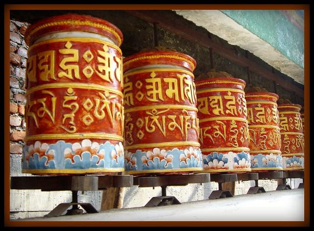 Buddhist Prayer Drums-Rumtek Monastery |