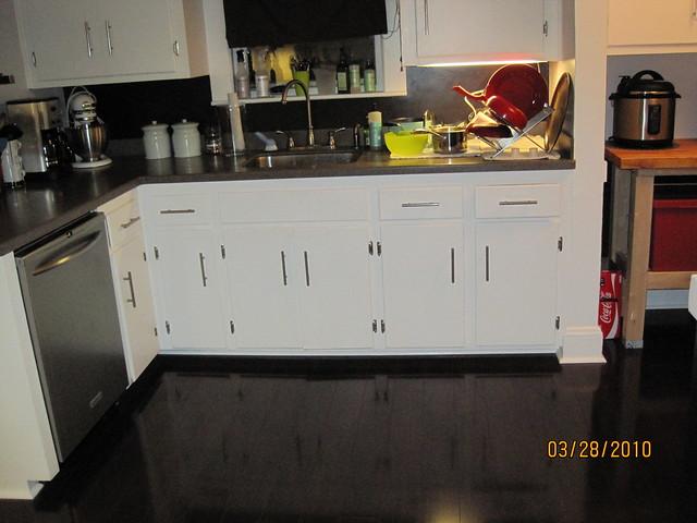 Cabinet with floor