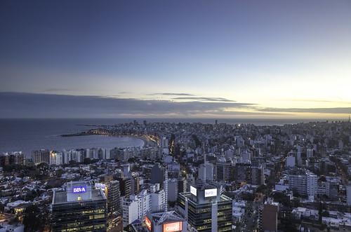 Montevideo as seen from Piso 40 | Pocitos Beach | 150804-0023906-jikatu | by jikatu
