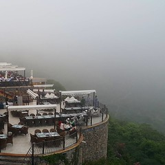 Cloudy weather here at Monal Restaurant. About to start raining any minute! #Islamabad