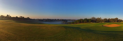 green golfcourse golf fog chadsparkesphotography iphonecamera iphonese panaramic panaroma panoramic pano sky scenic morning morningfog trees legendscountryandgolfclub florida legendsgolfandcountryclub legendsgolfclub