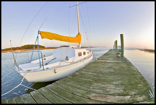 water sailboat sunrise canon river eos bay dock sailing fisheye tybee tybeeisland 1ds canon1ds canonef15mmf28fisheye markpayton canon15mmf28 wooddock missoulaphotographer markpaytonphotography