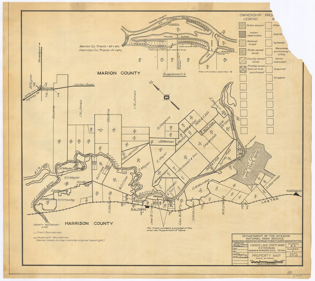 Caddo Lake State Park Map on