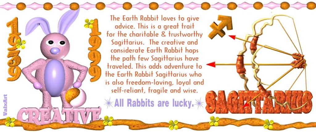 ValxArt's 1939 1999 Earth Rabbit Sagittarius w  astrology