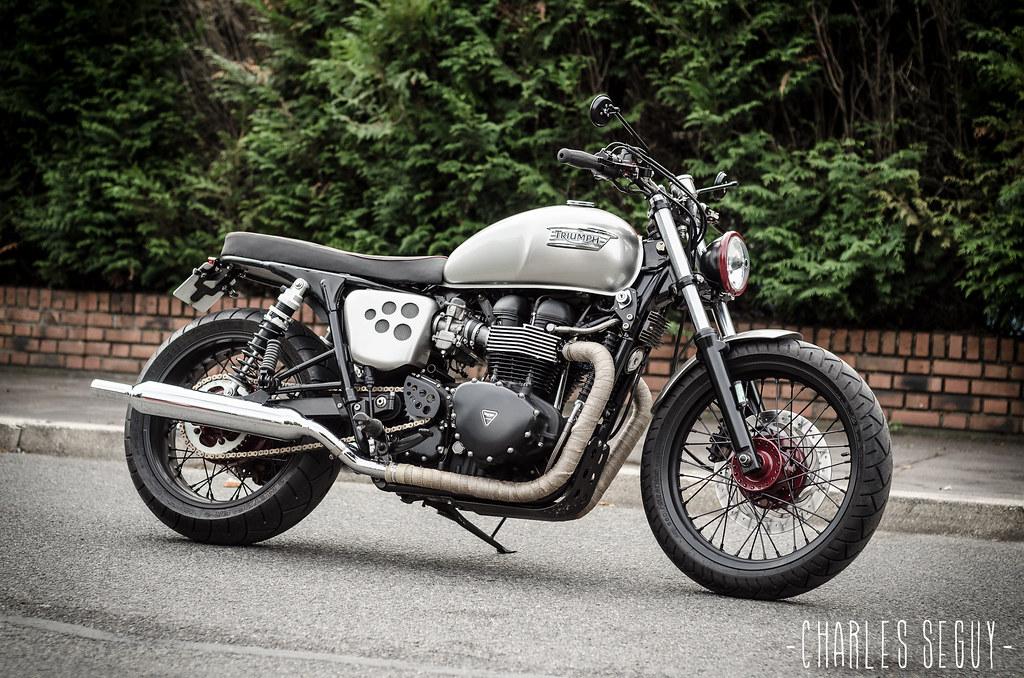 Raspo Custom Garage Triumph Bonneville T100 Brat Style Flickr