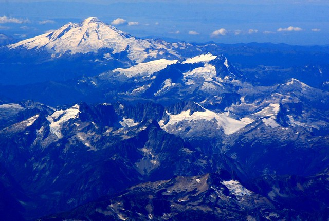 Mt. Baker (top), Mt. Shuksan (center) in the North Cascades