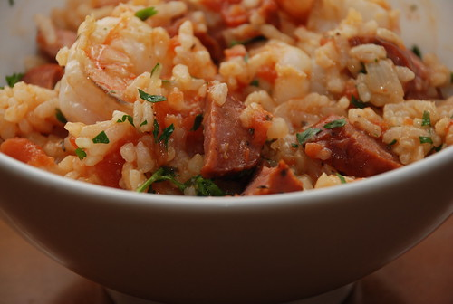 a bowl of jambalaya risotto | by kthread