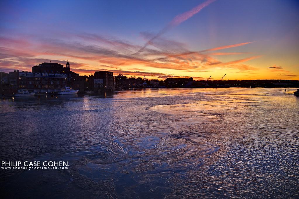A Piscataqua River Sunset by Philip Case Cohen