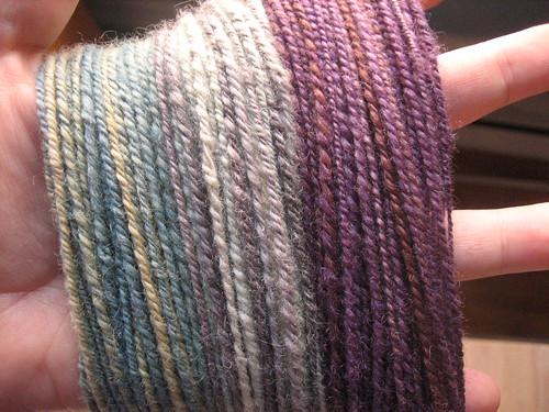 3 finished yarns