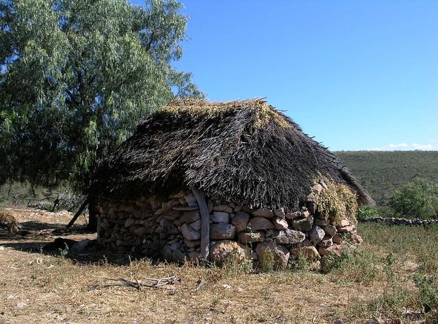 Casa típica Poblana (grupo indígena), entre Ameca y San Rafael de las Tablas, Zacatecas, Mexico