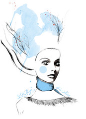 La Mujer de la Nieve - The Woman From the Snow - Illustration | by PixelWildChild