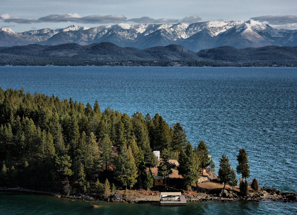 Flathead Lake Montana Located In The Northwest Corner