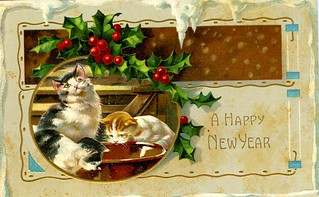 A Happy New Year from Three Cats | by Brian Bowrin