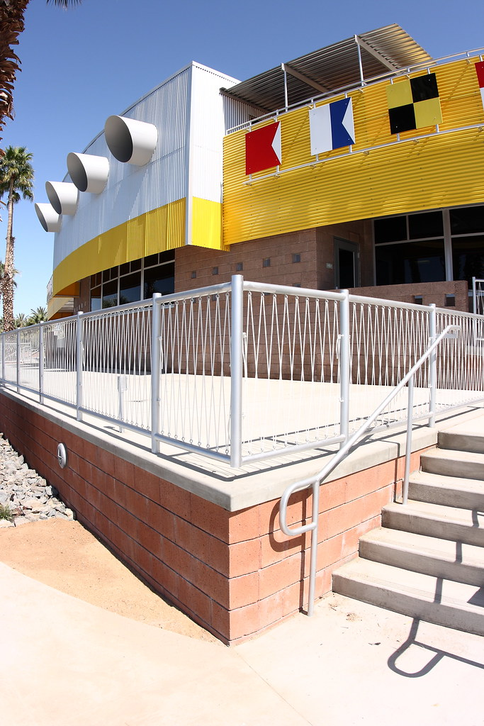 Sea side of the renovated North Shore Beach & Yacht Club at the Salton Sea.