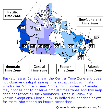 Map Of Canada With Time Zones.Canada Time Zones Map Mike Windsor Flickr