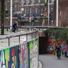 Utrecht bicycle tunnel graffiti