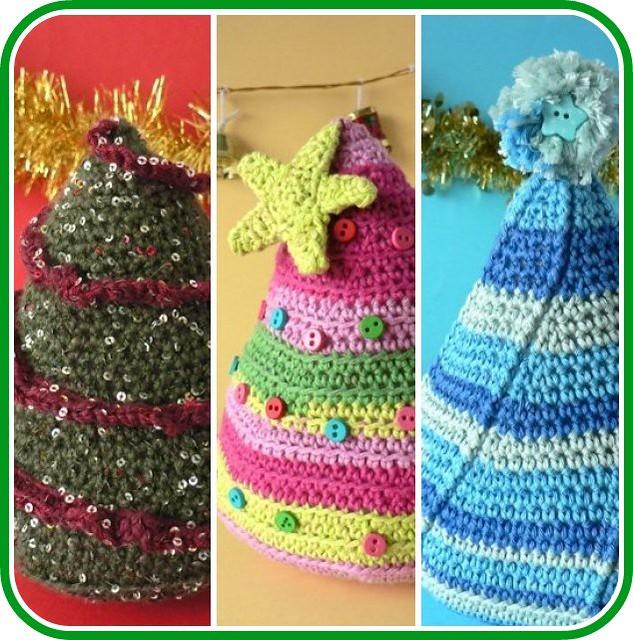 Christmas Tree Trio: A Trio Of Crocheted Christmas Trees