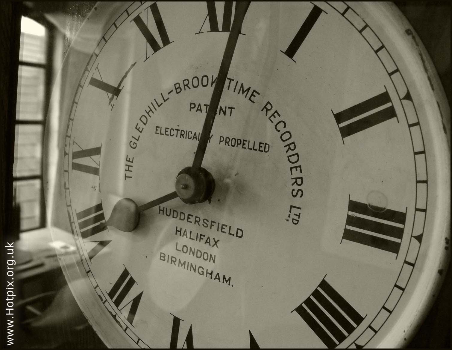 clock,Gledhill-Brook,Time,Recorder,clocking,machine,antique,old,very,sepia,black,white,mono,monochrome,hotpixuk,hotpix,tony,smith,tonysmith,walsall,england,midlands,britain,UK,clocks,horloge,reloj,orologio,Taktgeber,west,GB,europe,english,hotpics,hotpic,hotpick,hotpicks,stuff,history