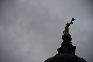 FW Pomeroy's statue of Justice atop the Old Bailey | by Ben Sutherland