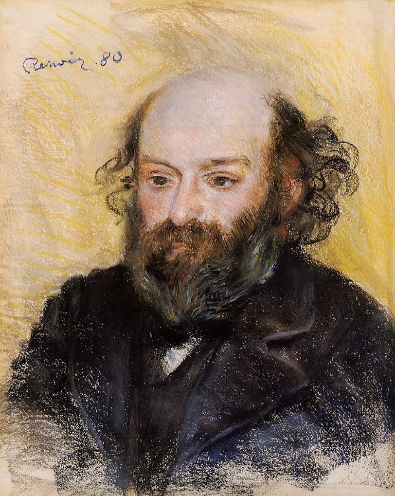 Pierre Auguste Renoir Portrait Of Cezanne 1880 Pastel Flickr