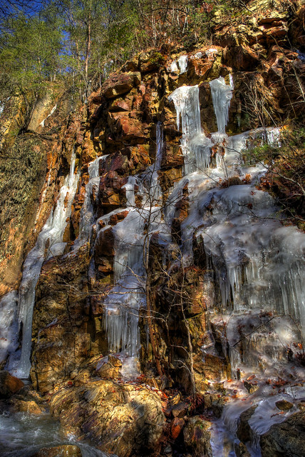 Icicles, Bruce Creek, Cumberland Trail, Campbell Co, TN