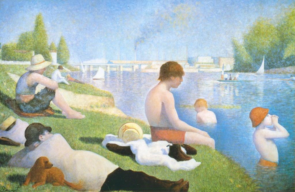 Georges Seurat: Étude complète pour une baignade, Asnières (1883)