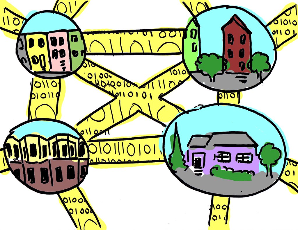 connecting-neighborhoods | I created these illustrations for… | Flickr