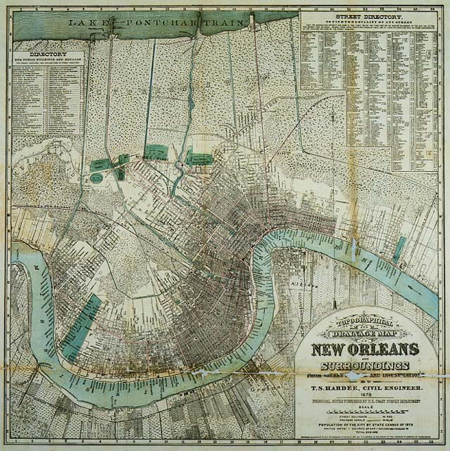 S In New Orleans Map on