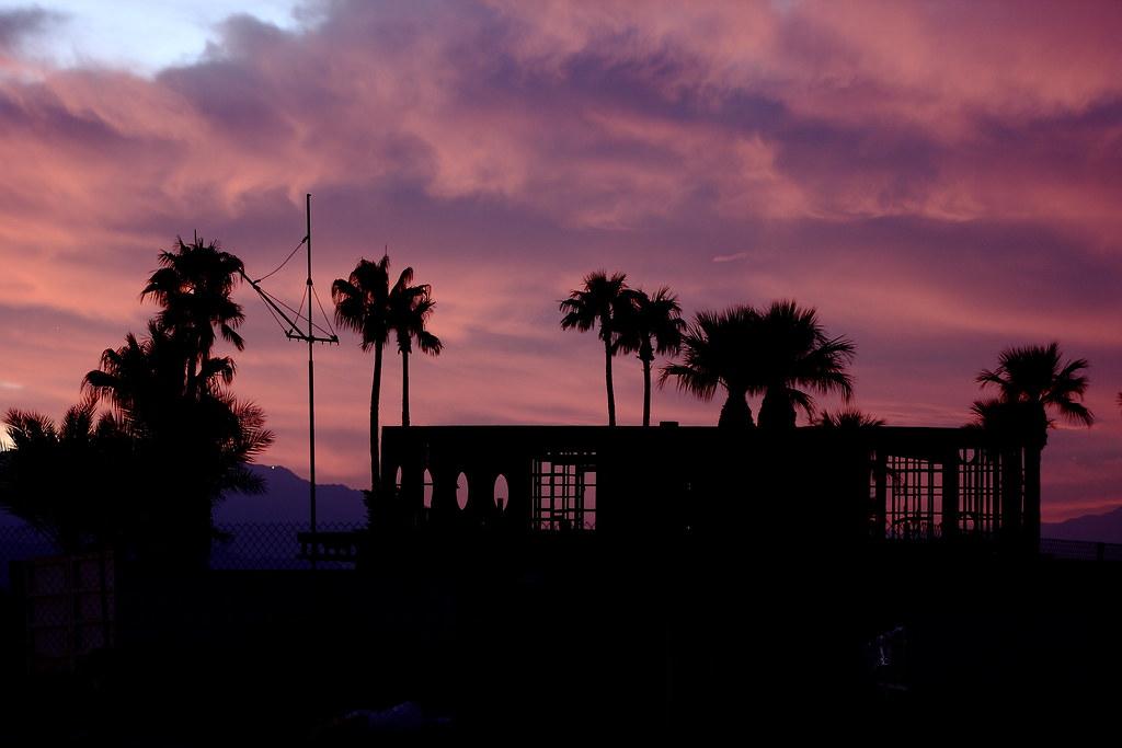 Silhouette of the Salton Sea North Shore Yacht Club renovation project