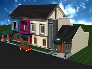 tampak depan desain rumah sudut minimalis 2 lantai | flickr