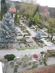 Kirkegården set fra nord - tårnfoto
