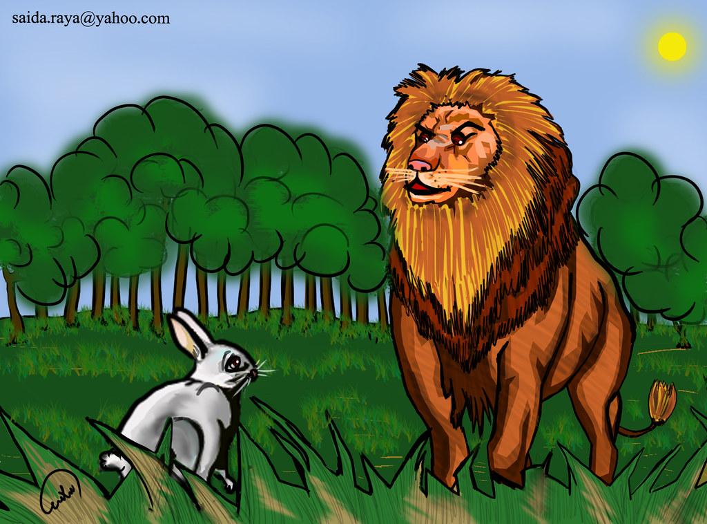 تلخيص قصة كليلة ودمنة الأسد والأرنب