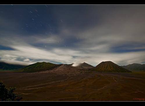 Bromo Star Trails by Mio Marquez