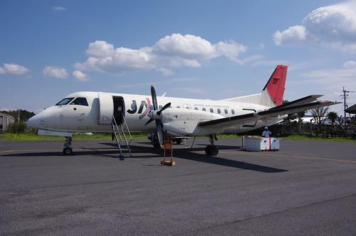 japan plane island airport kagoshima amami saab340b da1645mm kikai 喜界島