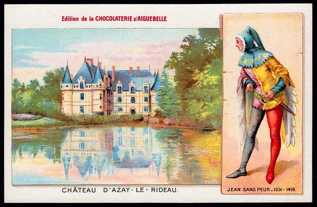 French Tradecard - Chateau D'Azay -Le -Rideau