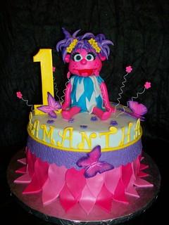 Abby Cadabby Birthday Cake   by sandrascakes