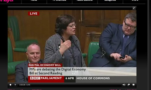 Tom Watson MP, tweeting from the House Of Commons during the Digital Economy Bill. | by solobasssteve