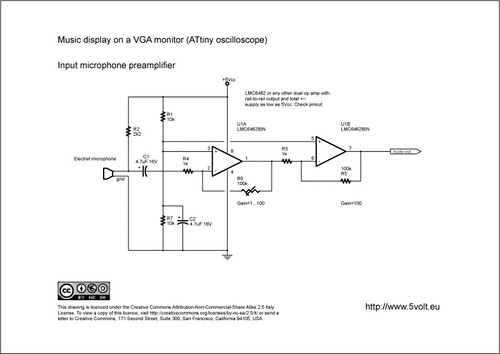 ATtiny Oscilloscope on VGA monitor | This is the schematic (… | Flickr
