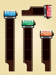 35mm colored photo film cartridges free vector | by Horia Varlan