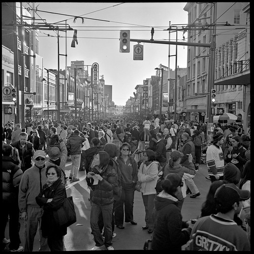 Granville/Robson Olympic Crowd (#07) | by wurkingartist