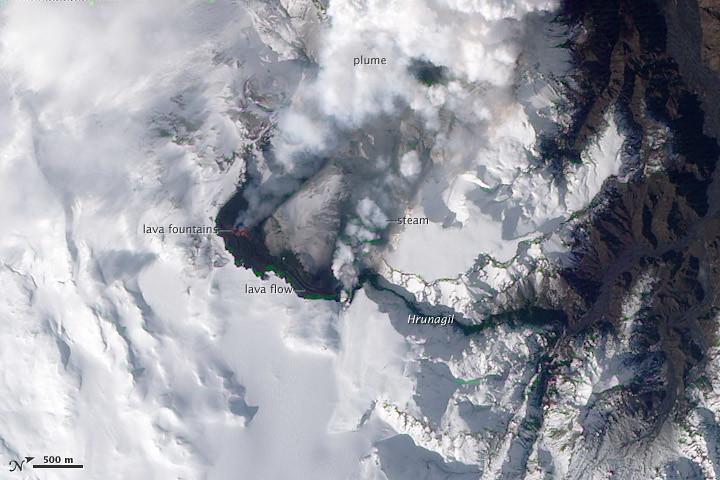 Eyjafjallajökull Volcano, Iceland acquired March 24, 2010