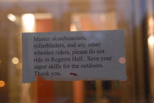Funny Skateboarding Sign