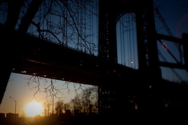 NYC:Uptown: George Washington sunset