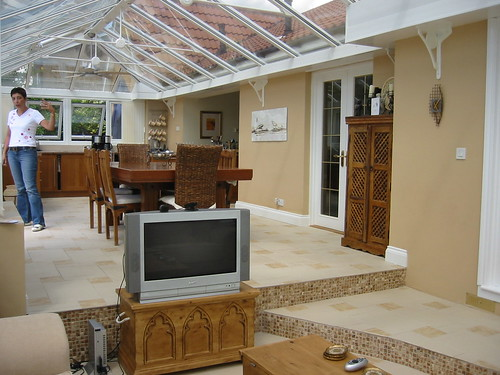 Stepped area in conservatory