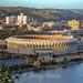 1990-09-22-008 Three Rivers Stadium from Mt. Washington