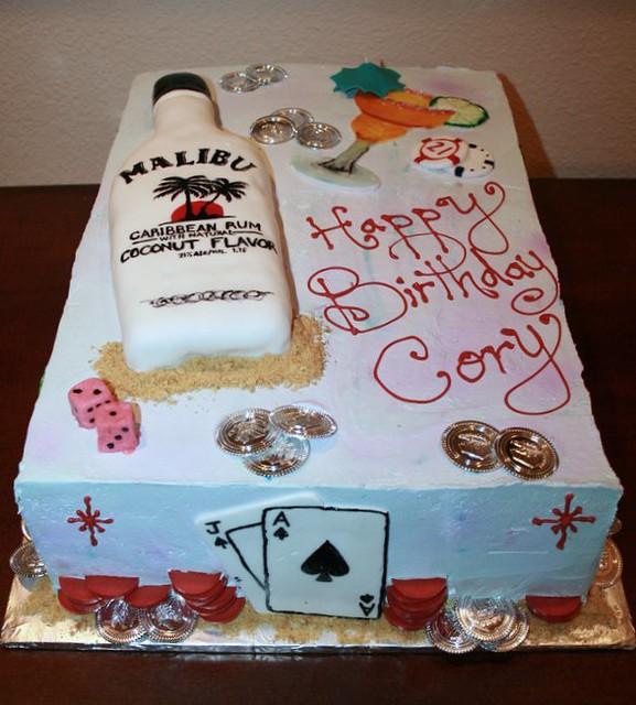 Pleasant 21St Birthday Cake Vegas Themed Created By Lizaj Lizaj Flickr Personalised Birthday Cards Petedlily Jamesorg
