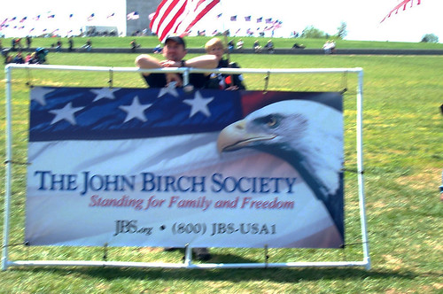 John Birchers at the rally