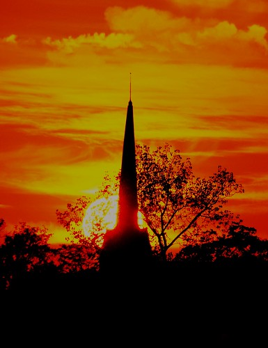 sun sunset connecticut church newengland