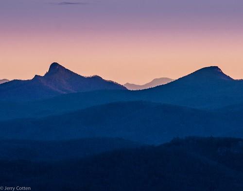 sky landscape jerrycotten northcarolina mountain hawksbill tablerock