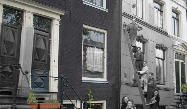 Ghosts of war - Amsterdam; Nieuwe Looierstraat ladder